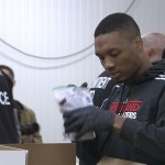 The Portland Trail Blazers Teamed Up Off the Court in Beaverton: With members of the military, the Blazers give back to the community.